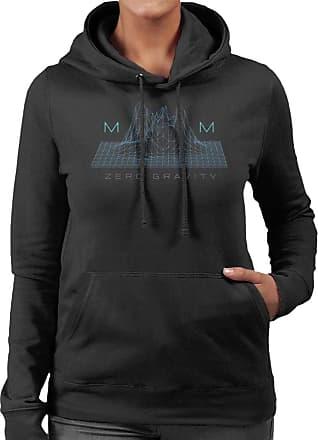 Disney Mickey Mouse Zero Gravity Womens Hooded Sweatshirt Black