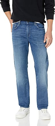 7 For All Mankind Mens Austyn Relaxed Straight-Leg Jean, Lyons Night, 33