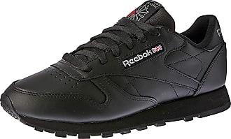 Reebok Classic Leather, Mens Trainers, Black (Intense Black), 8.5 UK (42 1/2 EU)