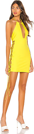 h:ours Arcadia Mini Dress in Yellow