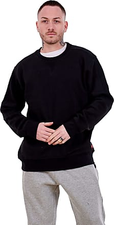 JD Williams Mens Fleece Sweatshirts Pullover Top Crew Neck Long Sleeve M to XXL Black