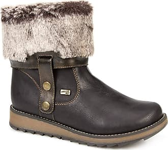 Remonte Drift Womens Warm Lined Fur Cuff Wedge Boots 8/41 Black
