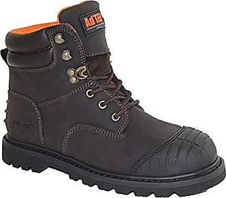 AdTec 6 11 M US Black Oil Resistant Goodyear Welt Construction Motorcycle Boot Leather