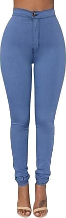 Isshe High Waisted Jeggings for Women Skinny Stretch Trousers Womens Petite Jeggings Ladies High Rise Pants Soft Leggings Tight Stretchy Jegging Slim Fit Pe