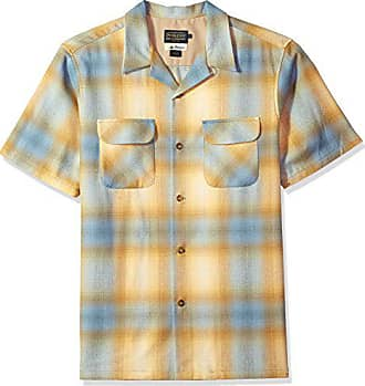 Pendleton Mens Short Sleeve Board Shirt, Blue/Gold Ombre, MD