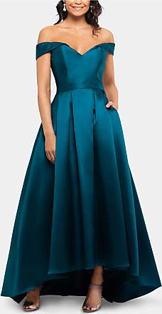 Xscape Womens Teal Sleeveless Maxi Fit + Flare Evening Dress Size: 10