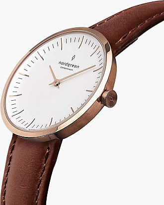 Nordgreen Infinity - Rose Gold | Brown Leather - 32mm / Rose Gold