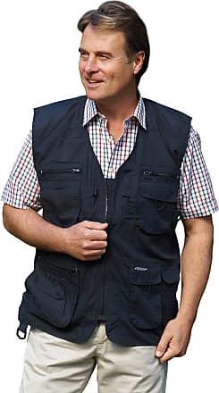 Champion Mens Champion Multi Pockets Waist Coat Polycotton BodyWarmer Gilet Outerwear (XXX-Large, Black)