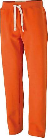 James & Nicholson JN945 Mens Vintage Wash Sweat Pants Dark Orange Size L