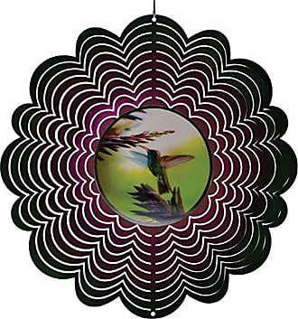 Great World Company StealStreet 609108 12 Holographic Flying Hummingbird with Flowers Wind Spinners