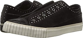 John Varvatos Studded Waxy Suede Low Top (Black) Mens Shoes
