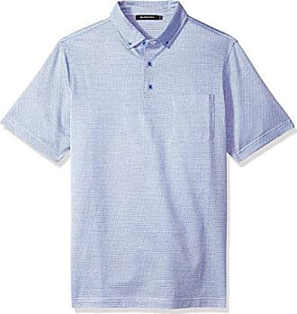 Bugatchi Mens Double Mercerized Short Sleeve Three Button Polo, Orchid, XXL