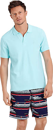 Vilebrequin Men Cotton Pique Polo Shirt Solid - Lagoon - XXXL
