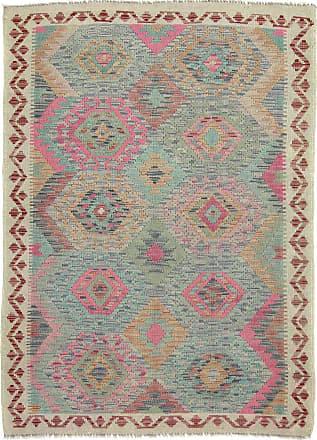 Nain Trading 173x126 Hand Woven Kilim Afghan Dark Grey/Pink (Wool, Afghanistan)