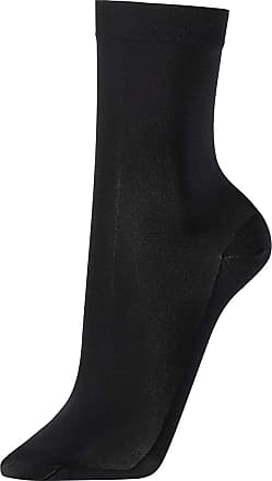 Wolford Womens Satin Opaque Nature Socks black S