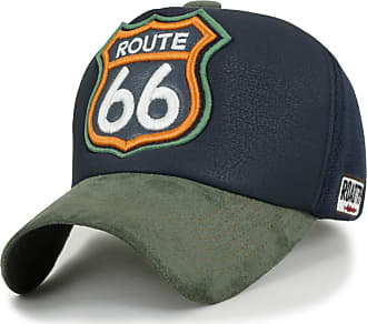 Ililily Route 66 Embroidery Patch Mesh Baseball Cap Premium Limited Edition, Green