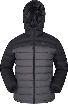 Mountain Warehouse Season Mens Padded Jacket - Water Resistant Jacket, Lightweight, Warm, Lab Tested to -30C, Microfibre Filler - for Winter Travelling, Walking Dark Gre
