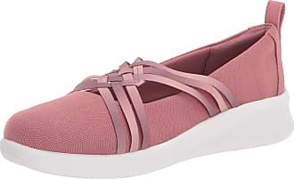 Clarks Womens Sillian 2.0 Cora Sneaker, Mauve Textile, 9.5 Wide