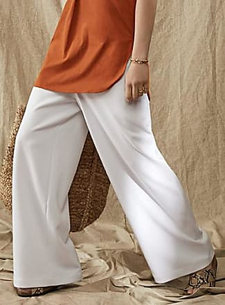 Icone Accent-zip wide-leg twill pant