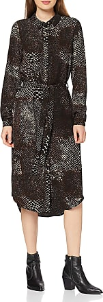 Vero Moda Womens 10222939 Dress, Black (Blackisolde Snake), 8 (Size: X-Small)