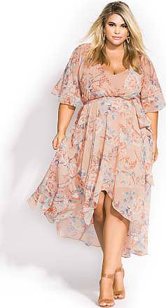 f4df2dc3d3 City Chic Moribana Maxi Dress - Peach in Cream - Size 14 / XS by City