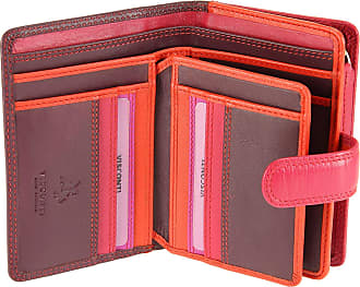 Visconti Multi Colour Soft Genuine Leather Purse/Wallet for Ladies - RB51 (Plum Multi)