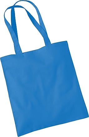 Westford Mill Womens Cotton Promo Shoulder Tote Carry Bag Cornflower Blue One Size