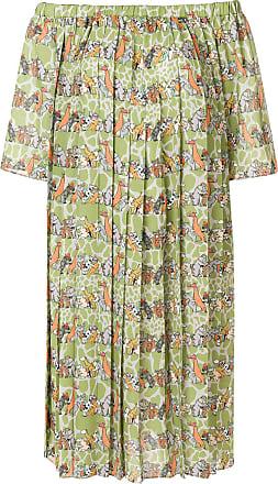 Ultra Chic animals print off shoulder dress - Green