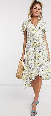 Pimkie wrap dress in ditsy floral print-Multi