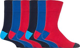 SockShop 6 pairs Mens SockShop Cotton Gentle Grip 6-11 uk Socks (6 x RJ560 C/B Hybrid)