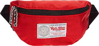GCDS men bum bag rosso