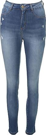 Sawary Calça Jeans Sawary Skinny Desgaste Azul