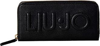 Liu Jo Womens Wallet - Zip Around XL, Wallet, Logo, PU Leather, 10x19x2, 5cm (Height x Width x Depth) - Black, One Size Fits All