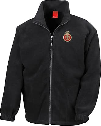 Military Online HMS Hurworth Embroidered Logo - Official Royal Navy Full Zip Heavyweight Fleece Jacket