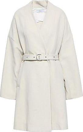 Iro Iro Woman Belted Twill Coat Ecru Size 34