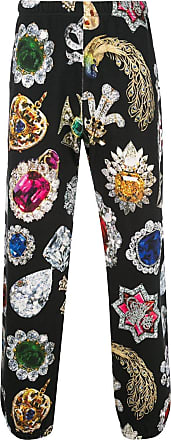 SUPREME jewel print track trousers - Black