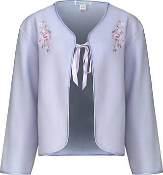 Slenderella Ladies Polar Fleece Ribbon Tie Bed Jacket Floral Embroidered House Coat UK 16/18 (Lilac)