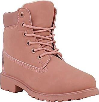 0fab6ee217bb12 Stiefelparadies Warm Gefütterte Worker Boots Damen Outdoor Stiefeletten  Robust 152611 Rosa Brooklyn 40 Flandell