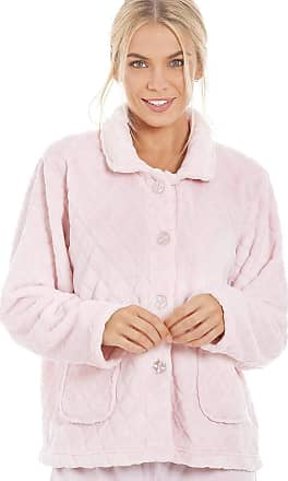 Camille Womens Soft Button and Zip Bed Jackets and Designs 18/20 Diamond Pink