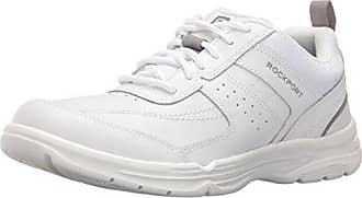 Rockport Mens U Bal Fashion Sneaker- White Leather-7 W