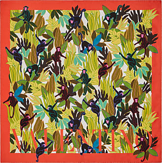 Valentino Garavani Valentino Garavani Silk Twill Foulard With Monkey Forest Print 90x90 Cm / 35.4x35.4 In. Women Multicolored Silk 100% OneSize