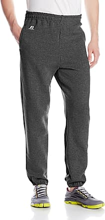 Russell Athletic Mens Dri-Power Closed-Bottom Sweatpants with Pockets, Black Heather, X-Large
