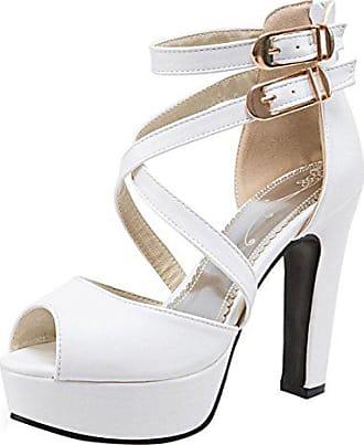 9997db10681789 RAZAMAZA Damen Blockabsatz Gladiator Sandalen Plateau High Heel Party Schuhe  (34 EU