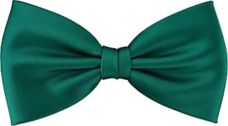TigerTie prefabricated TigerTie bow tie bow tie in petrol-green monochrome + Gift box