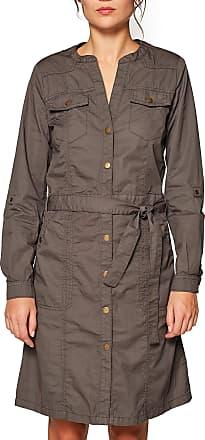 EDC by Esprit Womens 039CC1E008 Dress, Green (Khaki Green 350), 16