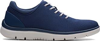Clarks Mens Shoe Navy Textile Clarks Tunsil Ace Size 11.5