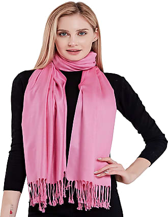CJ Apparel Pink Solid Colour Design Shawl Scarf Wrap Stole Pashmina Seconds NEW(Size: One Size)