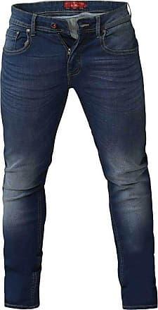 Duke London Duke Mens D555 Ambrose Tall Tapered Stretch Jeans-Blue-40W X 38L