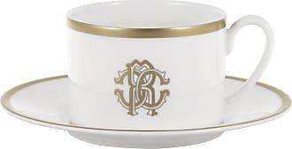 Roberto Cavalli Silk Gold Teacup & Saucer