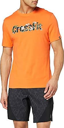 Reebok CrossFit Graphic Burnout Long Sleeve Shirt Orange
